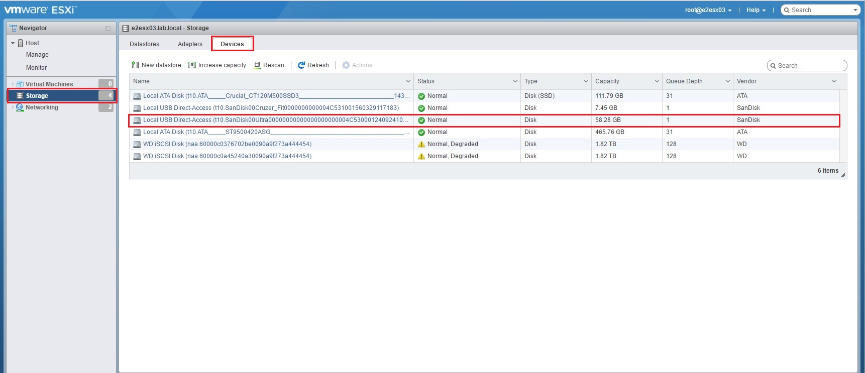 Creating A VMFS Datastore On A USB Drive | VMscrub